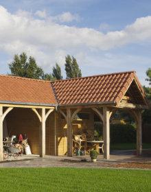 houten overkapping plaatsen